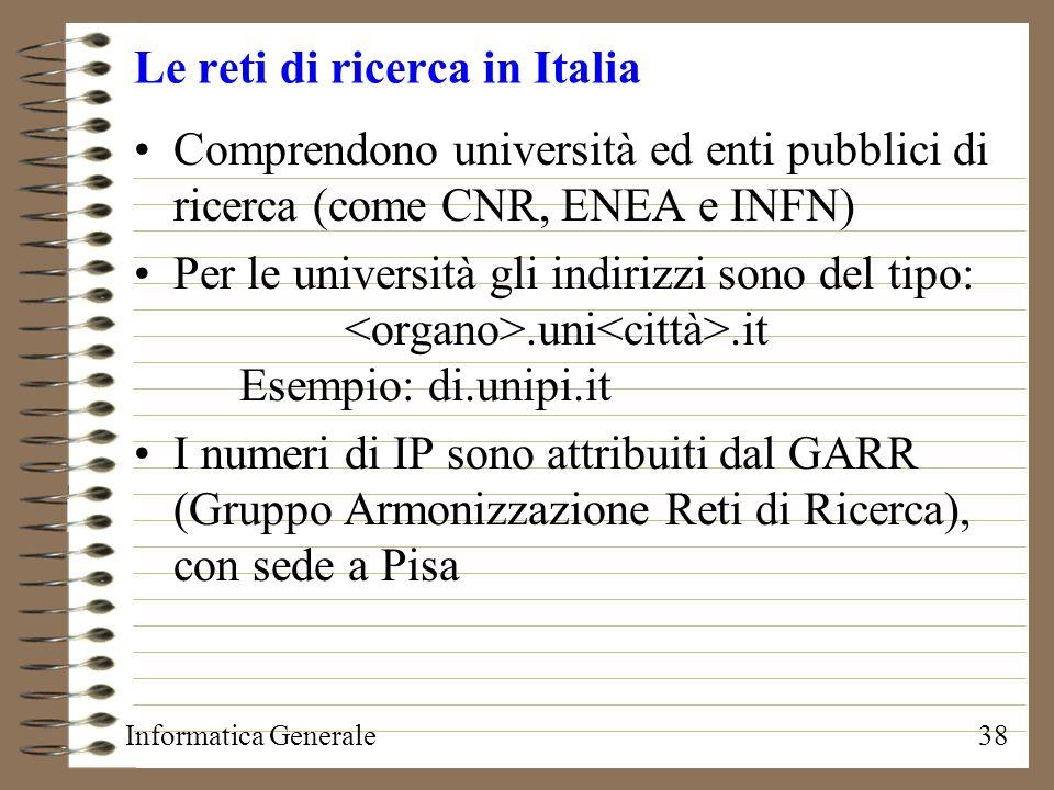 Le reti di ricerca in Italia