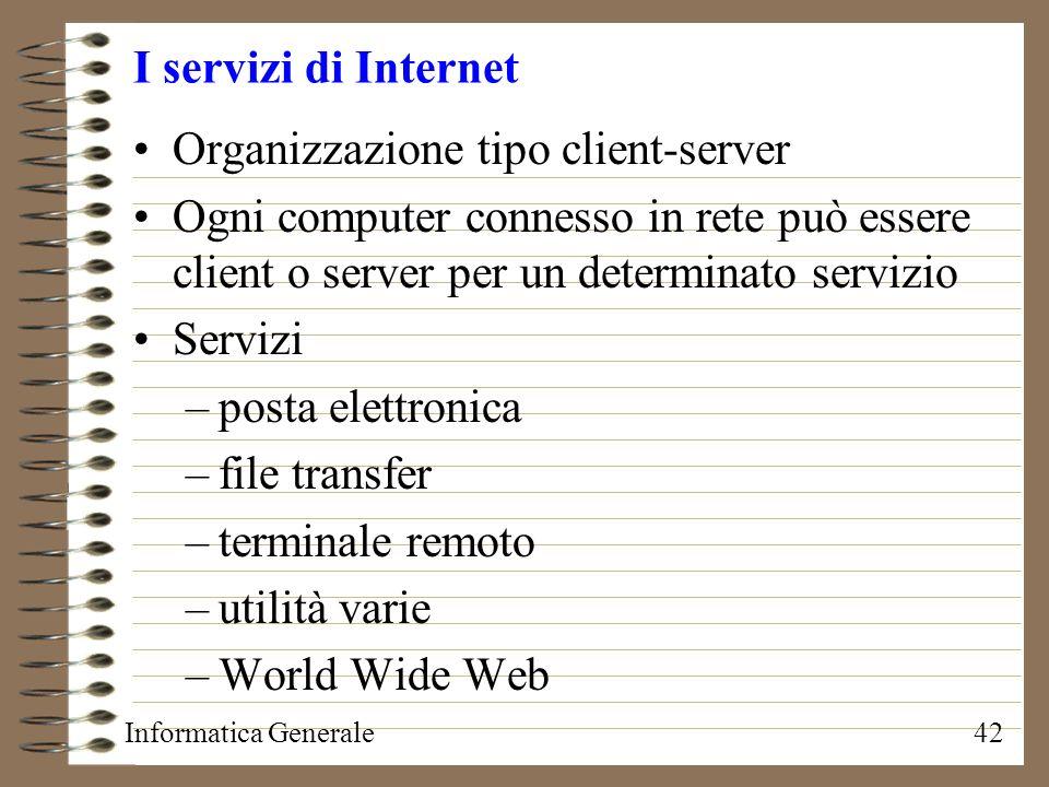 Organizzazione tipo client-server