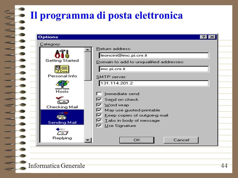 Il programma di posta elettronica