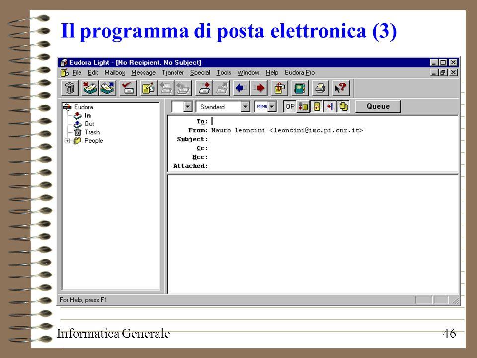 Il programma di posta elettronica (3)