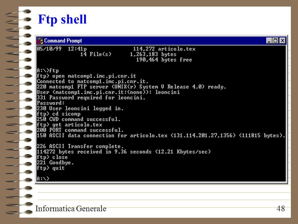 Ftp shell Informatica Generale