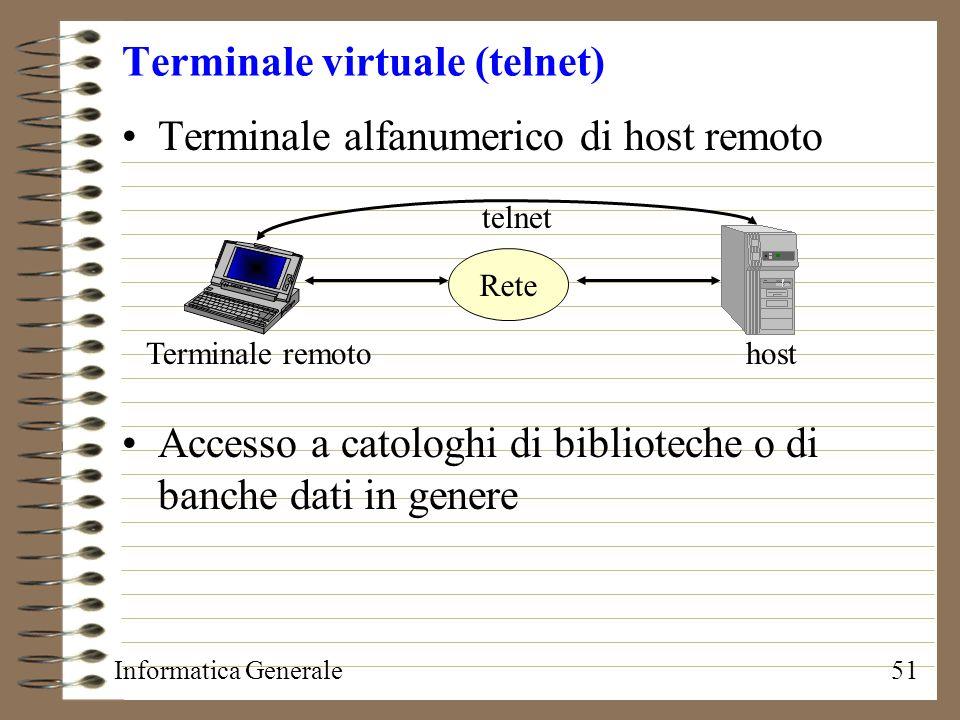 Terminale virtuale (telnet)