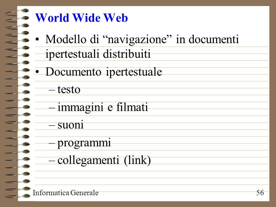 Modello di navigazione in documenti ipertestuali distribuiti