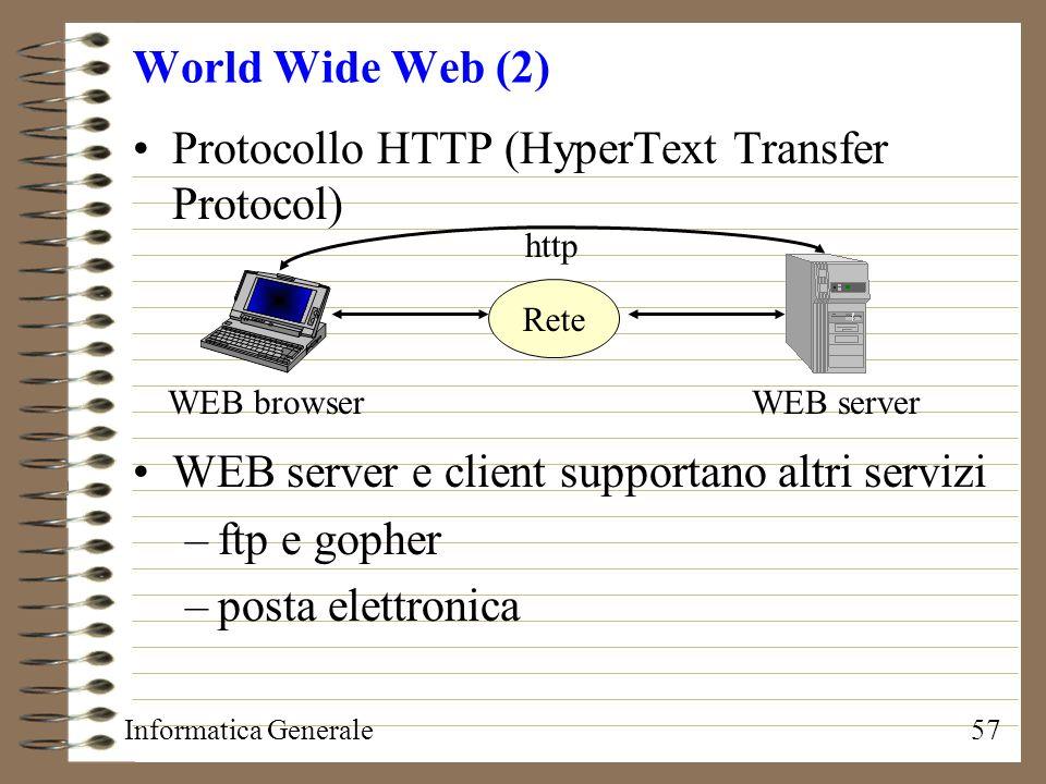 Protocollo HTTP (HyperText Transfer Protocol)