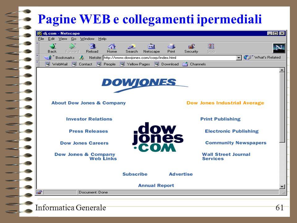 Pagine WEB e collegamenti ipermediali