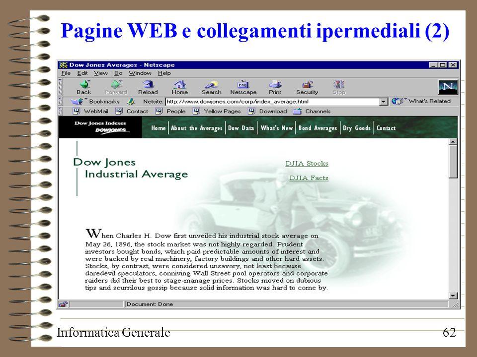 Pagine WEB e collegamenti ipermediali (2)