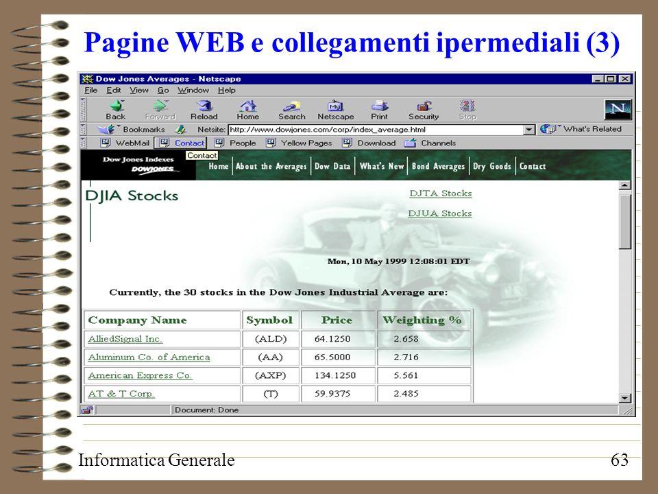 Pagine WEB e collegamenti ipermediali (3)