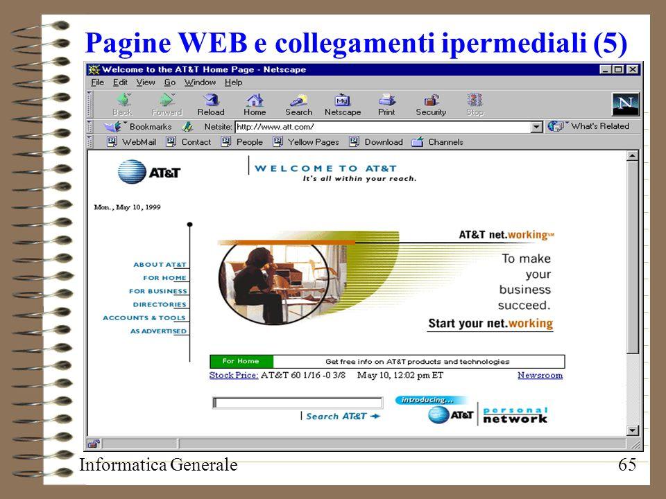 Pagine WEB e collegamenti ipermediali (5)