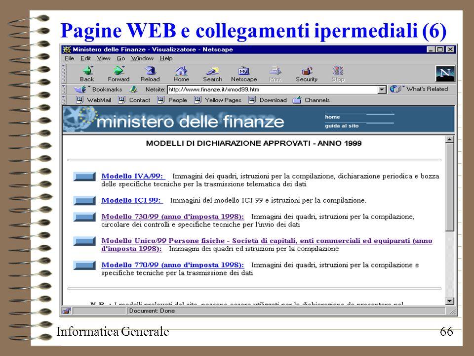Pagine WEB e collegamenti ipermediali (6)