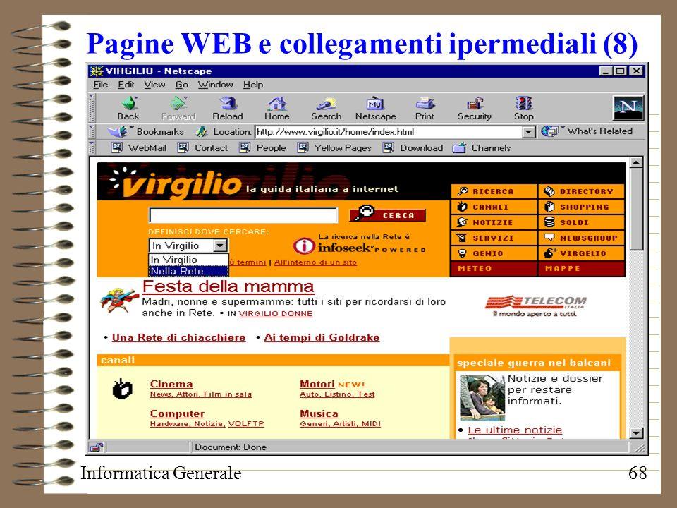 Pagine WEB e collegamenti ipermediali (8)