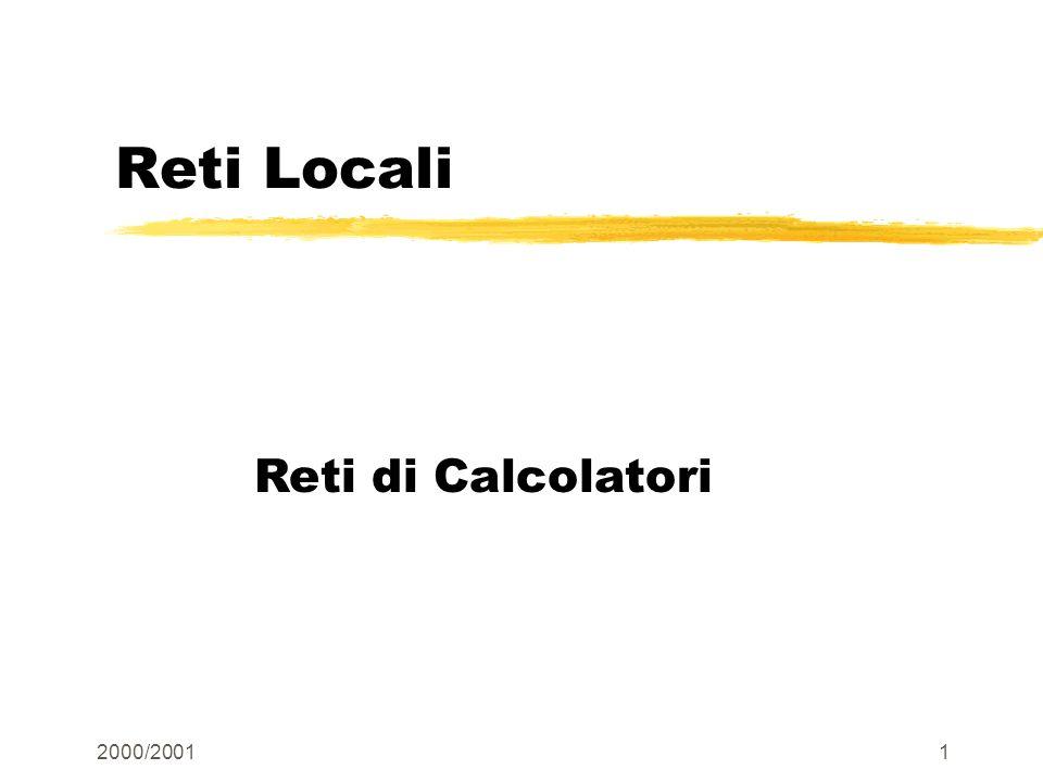 Reti Locali Reti di Calcolatori