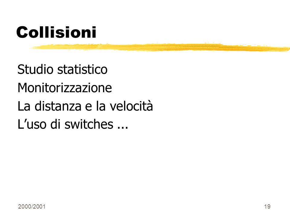 Collisioni Studio statistico Monitorizzazione