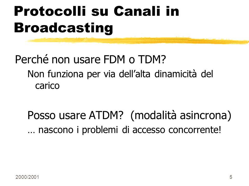 Protocolli su Canali in Broadcasting