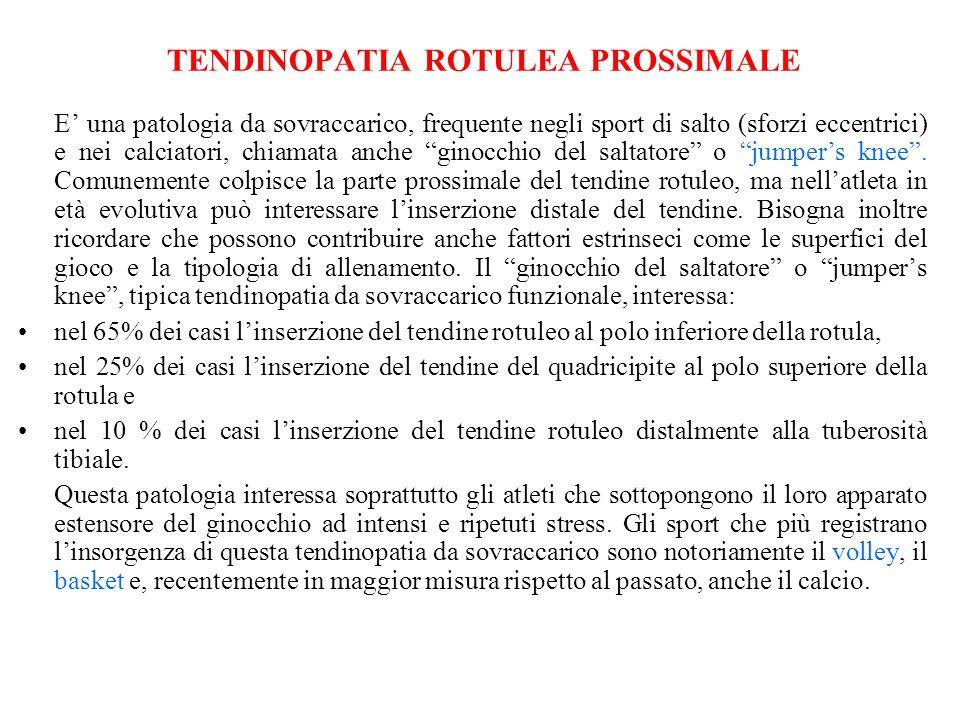 TENDINOPATIA ROTULEA PROSSIMALE