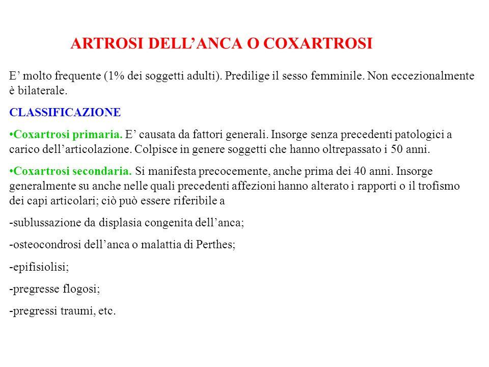 ARTROSI DELL'ANCA O COXARTROSI