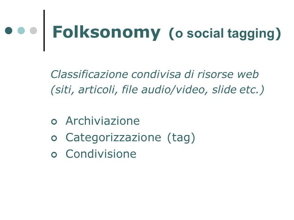 Folksonomy (o social tagging)