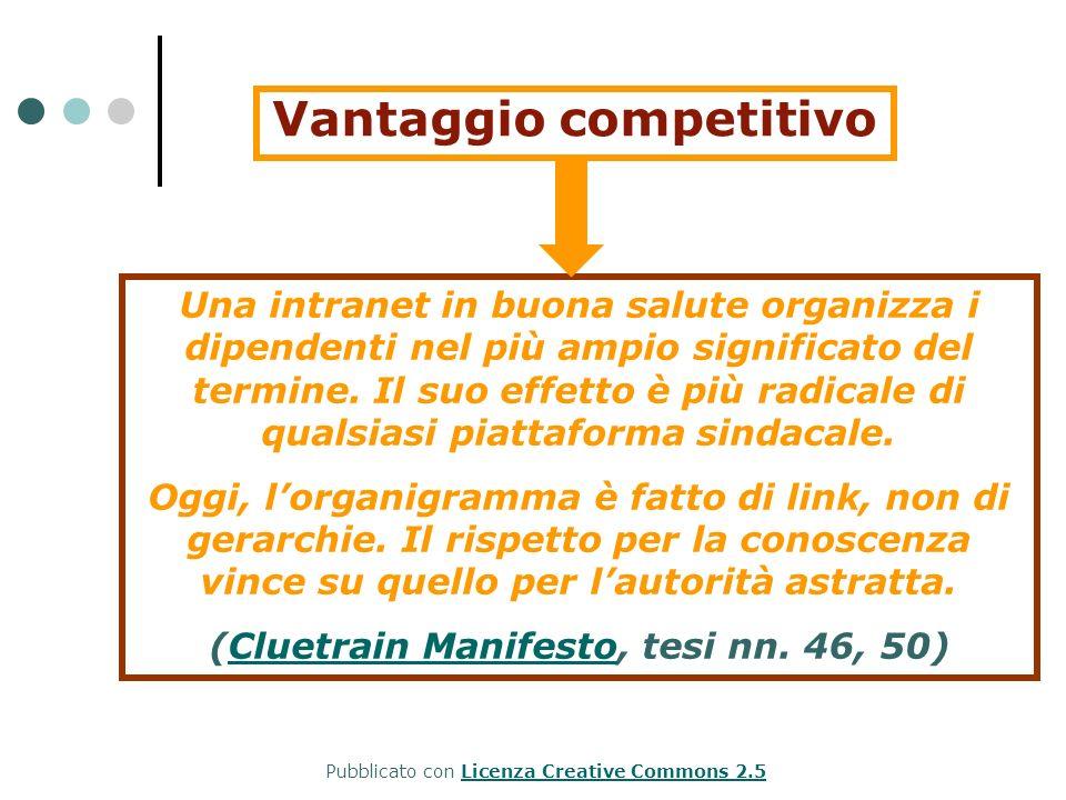 Vantaggio competitivo (Cluetrain Manifesto, tesi nn. 46, 50)