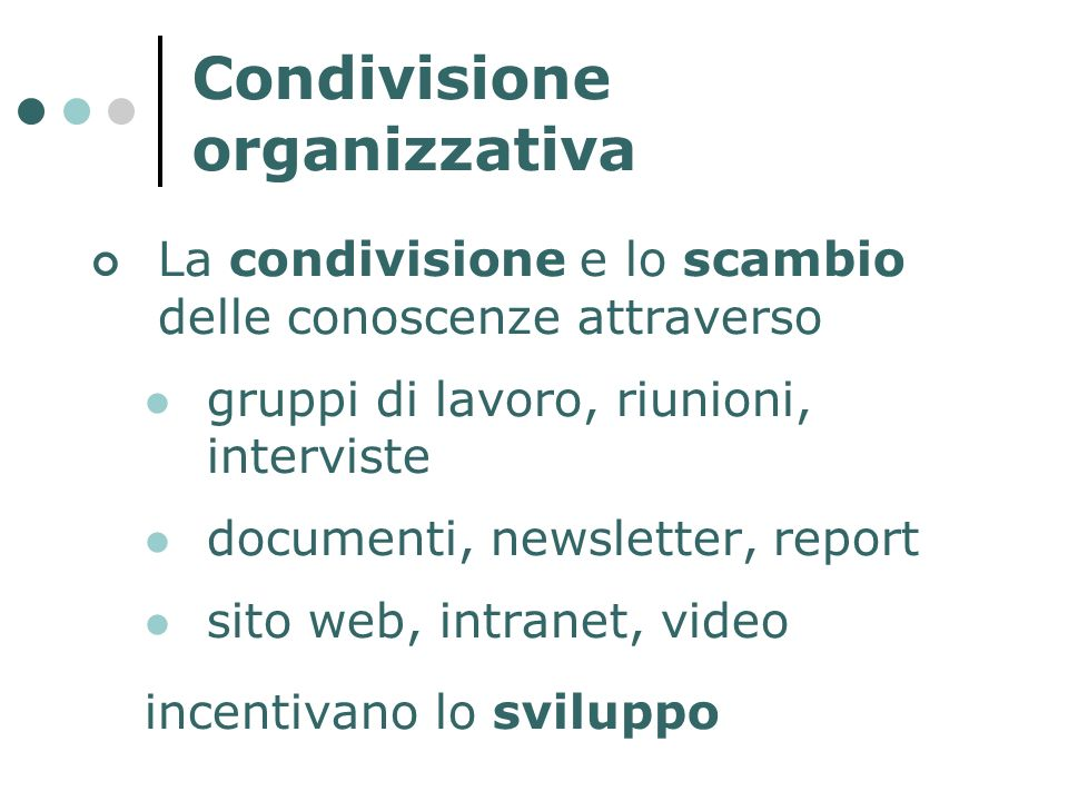 Condivisione organizzativa