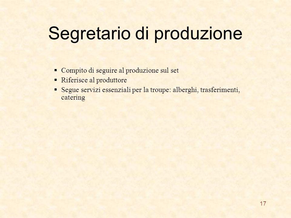 Segretario di produzione
