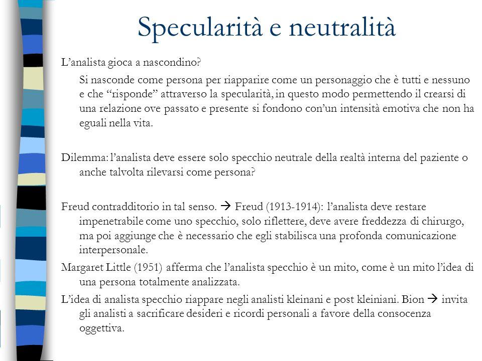 Specularità e neutralità