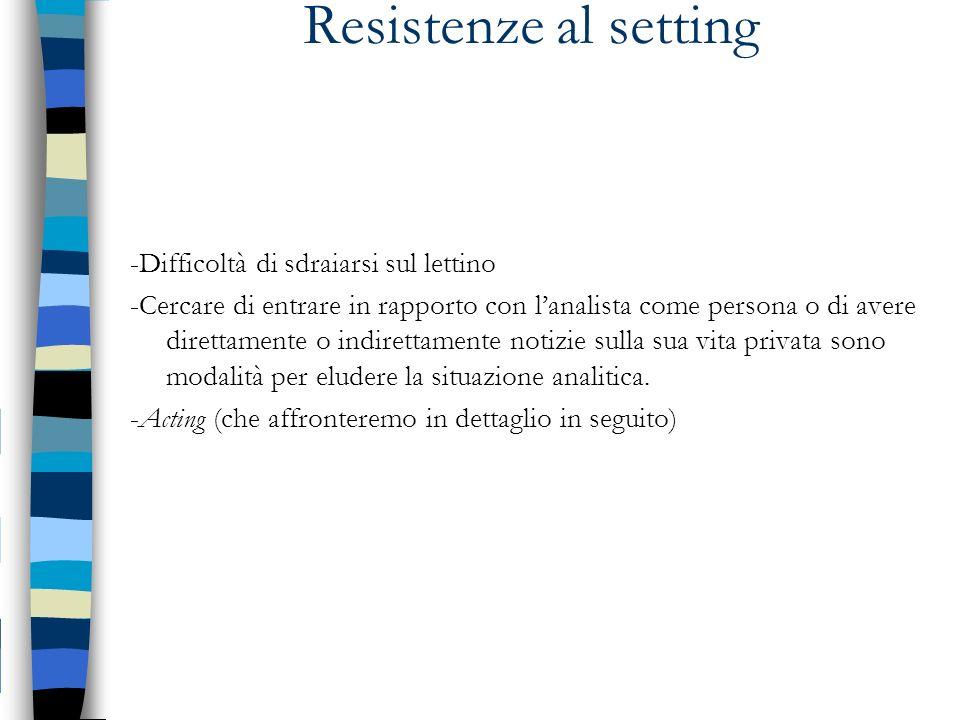 Resistenze al setting