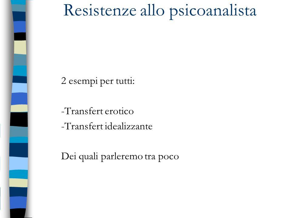 Resistenze allo psicoanalista