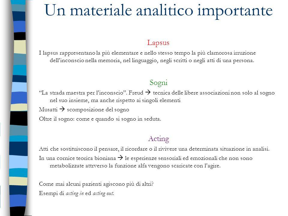 Un materiale analitico importante
