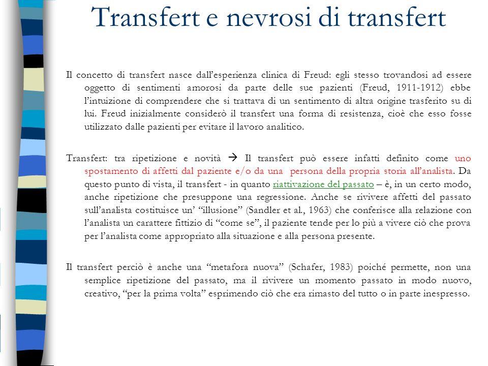 Transfert e nevrosi di transfert