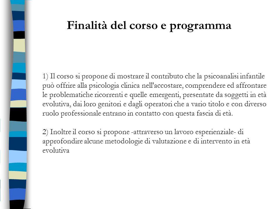 Finalità del corso e programma
