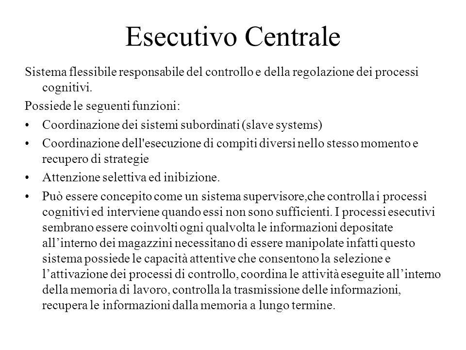 Esecutivo Centrale Sistema flessibile responsabile del controllo e della regolazione dei processi cognitivi.