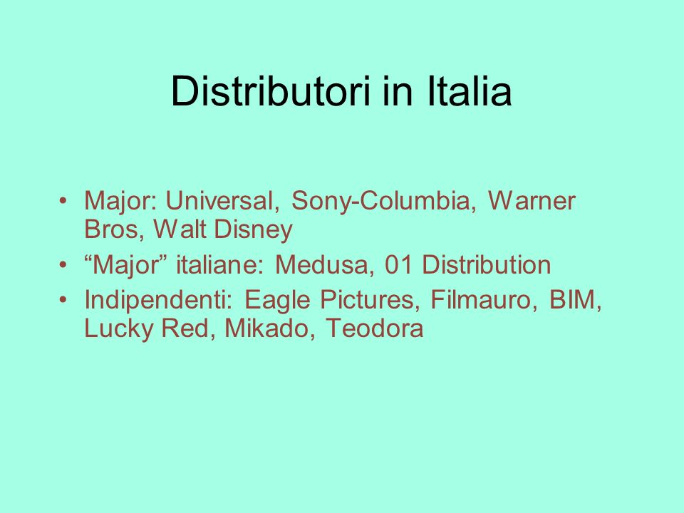 Distributori in Italia