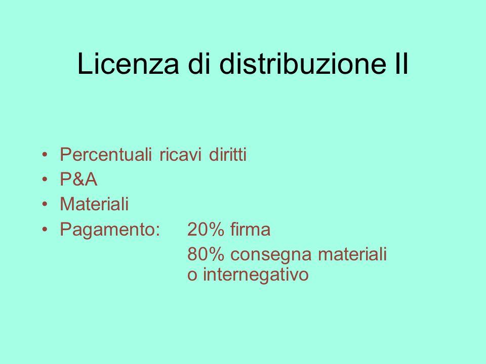 Licenza di distribuzione II