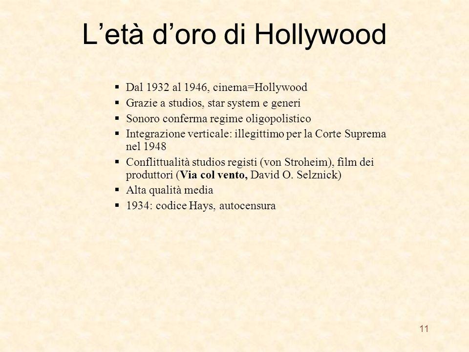 L'età d'oro di Hollywood