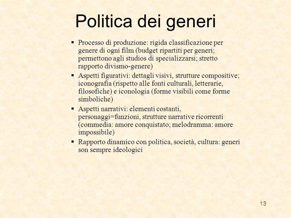 Politica dei generi