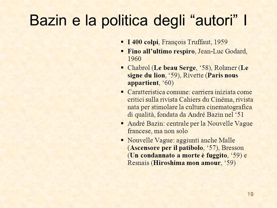 Bazin e la politica degli autori I