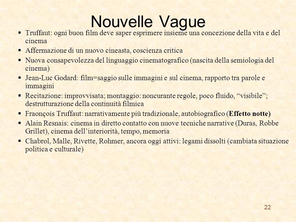 Nouvelle Vague Truffaut: ogni buon film deve saper esprimere insieme una concezione della vita e del cinema.