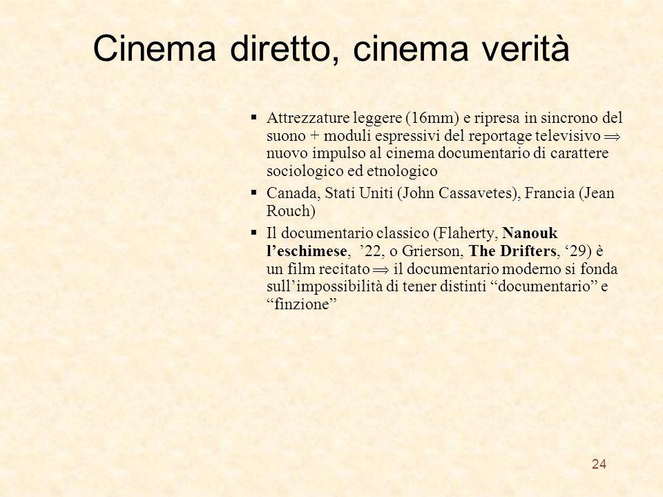 Cinema diretto, cinema verità