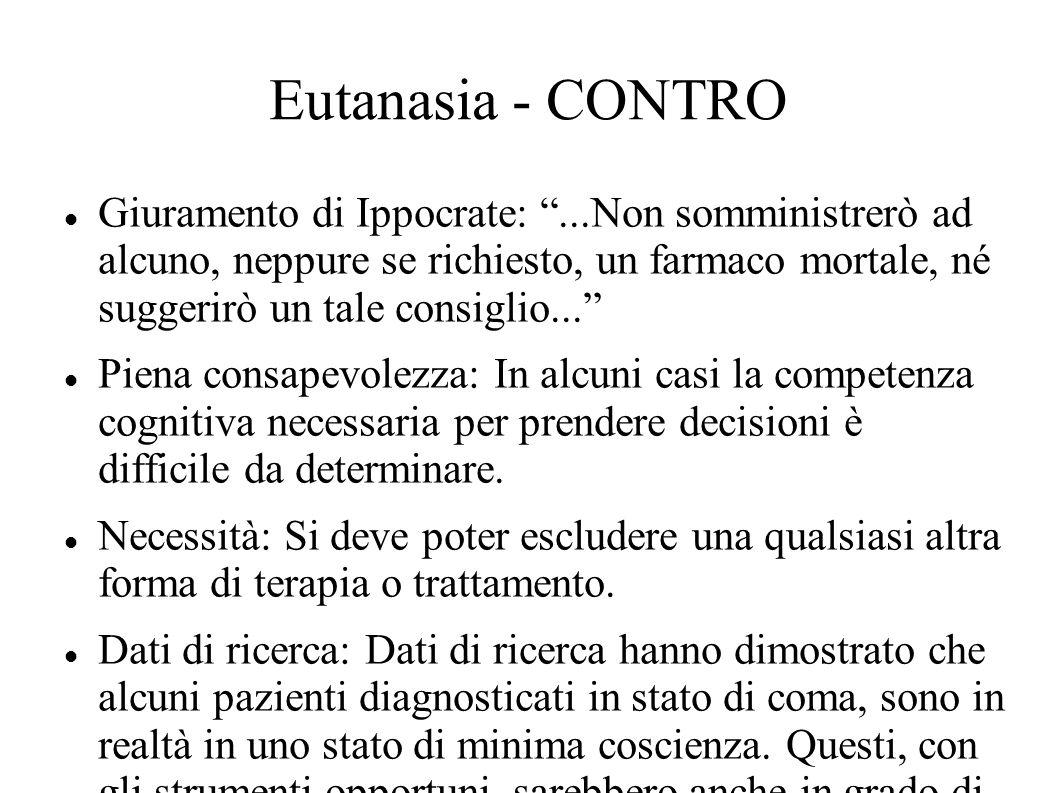Eutanasia - CONTRO