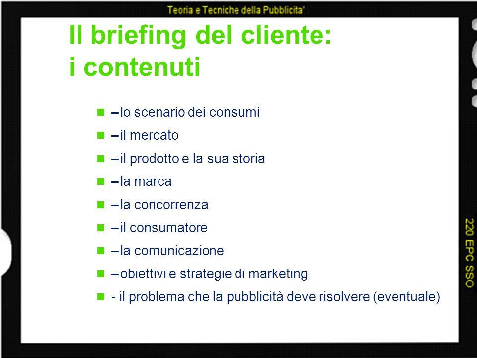 Il briefing del cliente: i contenuti