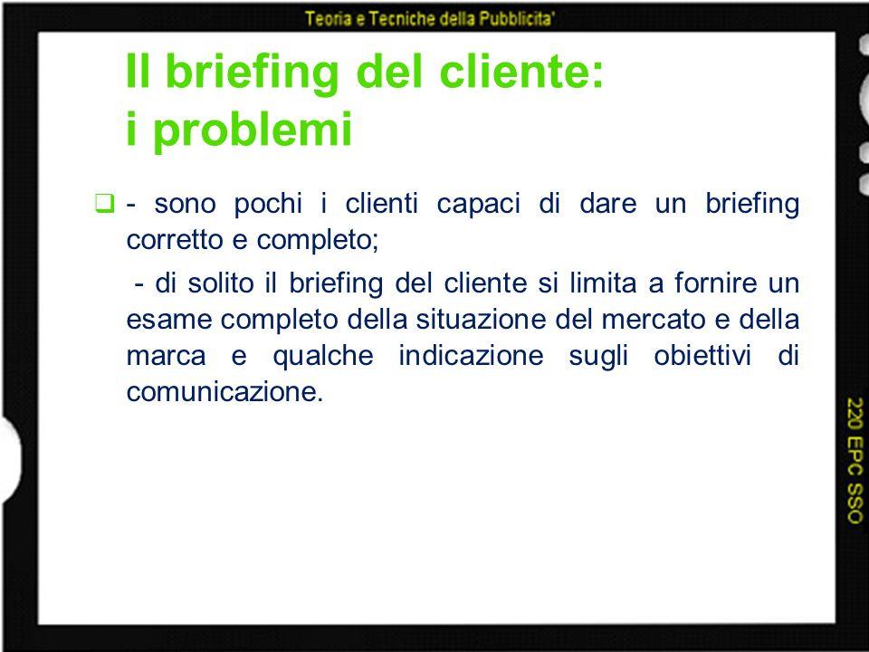 Il briefing del cliente: i problemi