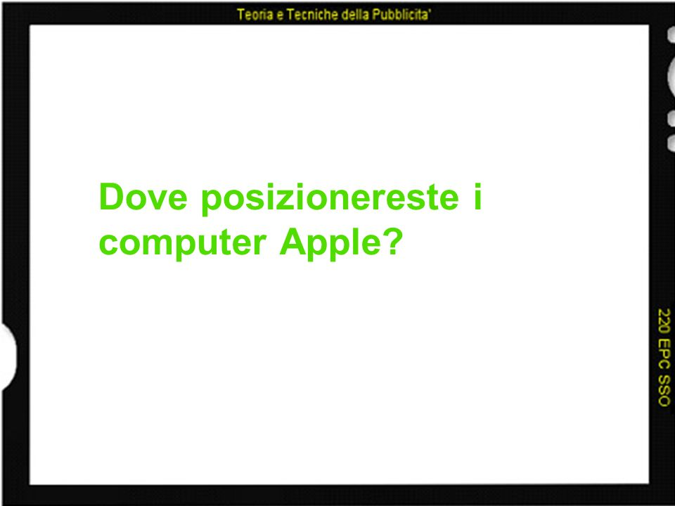 Dove posizionereste i computer Apple