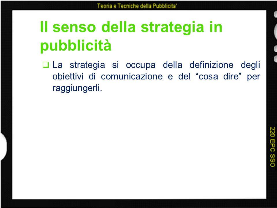 Il senso della strategia in pubblicità