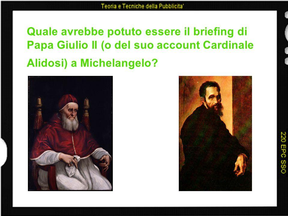 Quale avrebbe potuto essere il briefing di Papa Giulio II (o del suo account Cardinale Alidosi) a Michelangelo