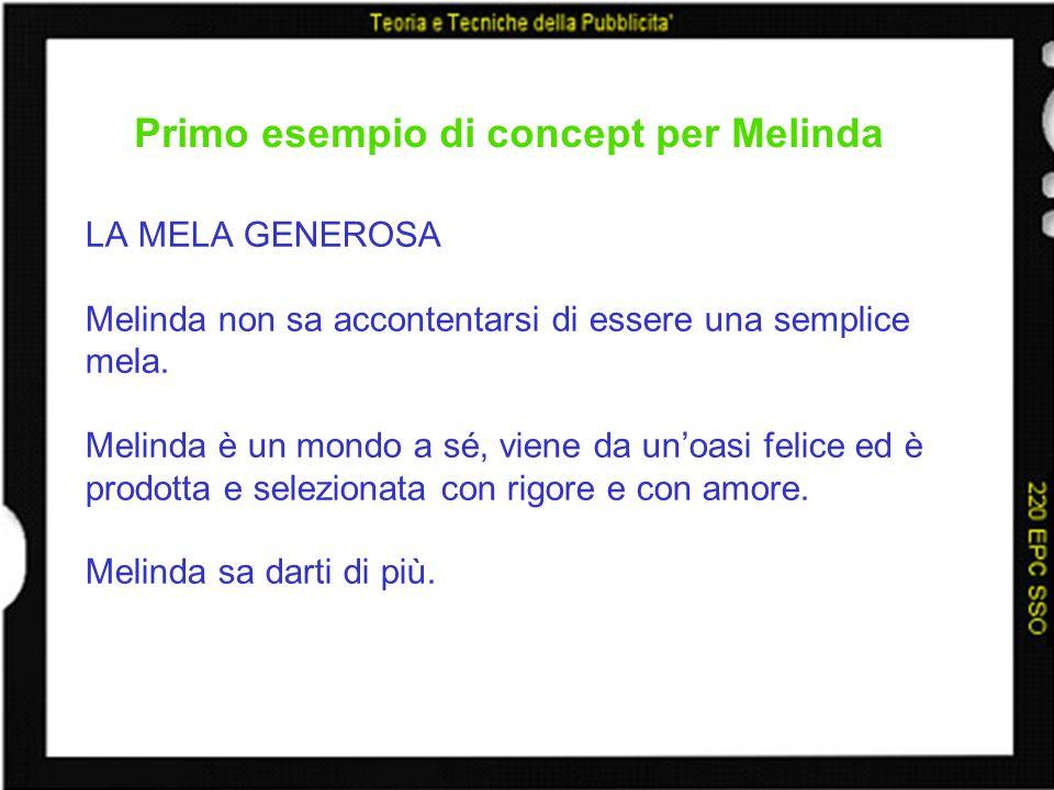 Primo esempio di concept per Melinda
