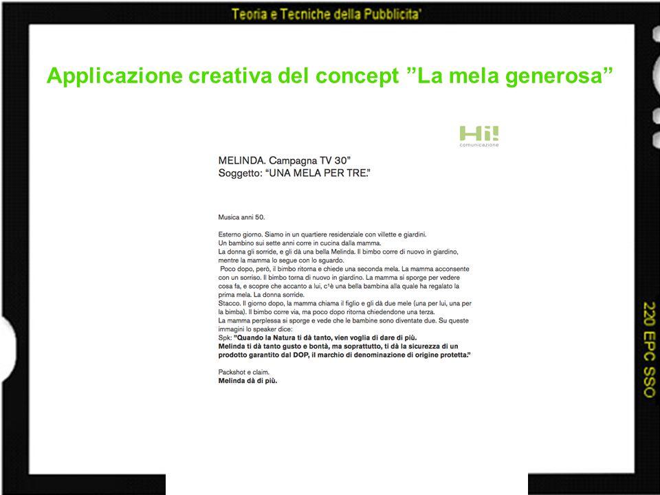 Applicazione creativa del concept La mela generosa