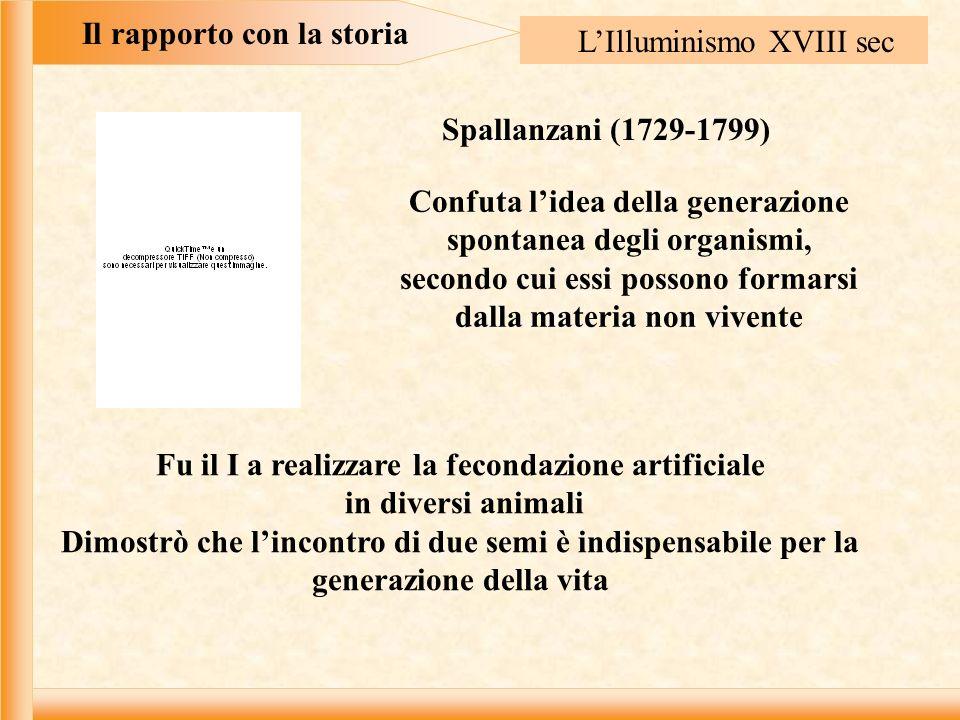 Il rapporto con la storia L'Illuminismo XVIII sec