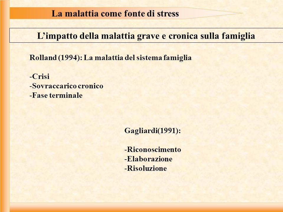 La malattia come fonte di stress
