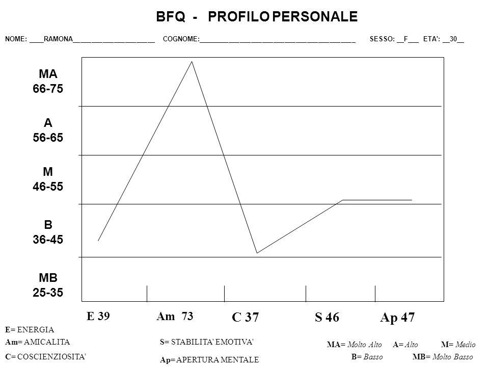 BFQ - PROFILO PERSONALE