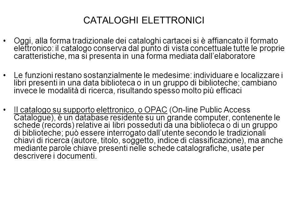 CATALOGHI ELETTRONICI