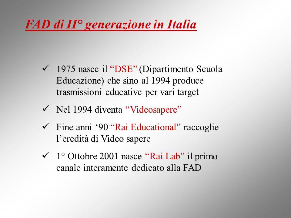 FAD di II° generazione in Italia